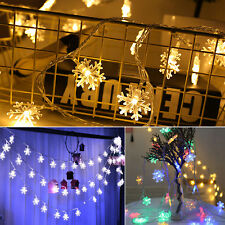 1PC Christmas Tree Snowflake LED Lights String Fairy Wedding Party  Tree Decor