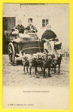 CPA BELGIUM Anvers ATTELAGE de CHIENS FLAMAND DOG CART DAIRY LAITIÈRES HOND TEAM