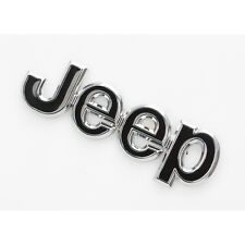 3D JEEP Hood Trunk Tailgate Emblem Logo Stickers Badge For Jeep Wrangler Black