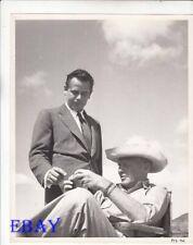 Glenn Ford watches director John Farrow VINTAGE Photo Plunder of the Sun