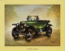 Poster Oldtimer Opel 1923 37,5x30,5 cm Oldtimerposter Autoposter Auto PKWs car