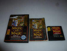 SEGA GENESIS GAME MIGHT AND MAGIC GATES TO ANOTHER WORLD W MANUAL HINT BOOK RPG