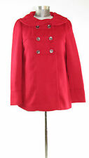 AMBITION - Women's Size S Red Double Breasted Peacoat Shawl Collar