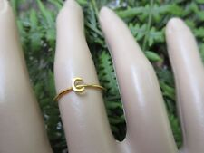 14KT GOLD INITIAL C STACK RING SZ/7
