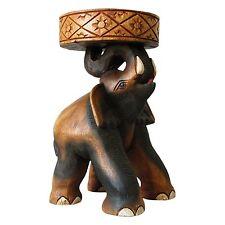 ELEPHANT petite table, socle en bois, la Thaïlande Décoration importés (10992)