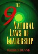 The Nine Natural Laws of Leadership by Warren Blank (1995, Hardcover) Very Good