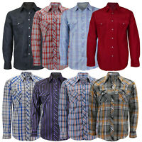Men's Casual Western Button Up Long Sleeve Rodeo Pearl Snap Cowboy Dress Shirt