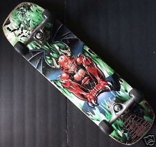 "MONGOOSE RED DEVIL DRAGON GHOUL 8"" X 29.75"" Skateboard With Trucks & Wheels"