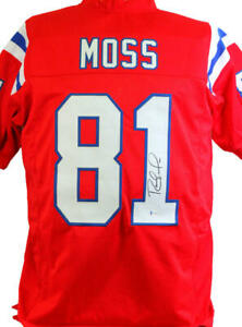 Randy Moss Autographed Red Pro Style Jersey - Beckett W *Black *1