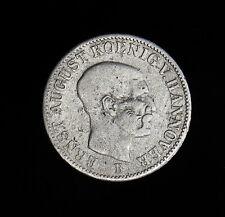 1851-B German States HANNOVER 1/12 Thaler KM# 206 silver coin Ernst August1