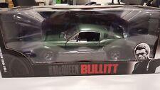 1:18 FORD MUSTANG GT 390 Bullitt 1968 VERDE Greenlight NUOVO IN SCATOLA ORIGINALE