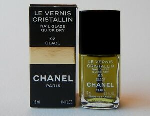 CHANEL Le Vernis Cristallin Nail Polish 92 GLACE (GREEN) (New with Box)