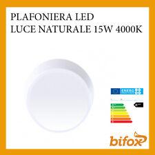 PLAFONIERA TONDA LED COREL LUCE NATURALE 4000K 15W BIANCA LAMPADA DA SOFFITTO