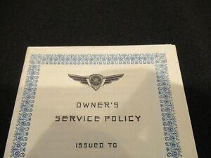 Chrysler Dodge owner's service policy, ephemera, c. 1940s