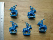 5 x CAVALERIE BLEU/BLUE CAVALRY MINIATURES/CONQUEST OF THE EMPIRE/EAGLE GAMES