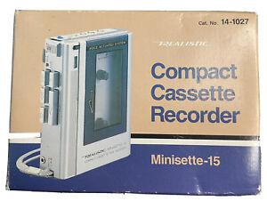 NEW In Box Realistic Minisette 15 Compact Cassette Recorder 14-1027 Radio Shack