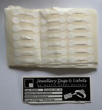 19 sheets of 21 self-adhesive white jewellery tags