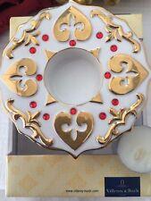 Villeroy & Boch - lumi di Natale - supporto scalda te porcellana e oro zecchino