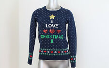 Women's Almost Famous I Heart Christmas Sweater Size Small