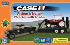 Case IH Pick Up w/ Trailer & Tractor loader - 231 Pieces Block Set - Imex 39507