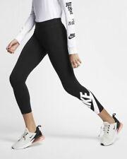 Nike Women's Sz Large - SPORTSWEAR LEG-A-SEE 7/8 TIGHTS - Black AR3507 010