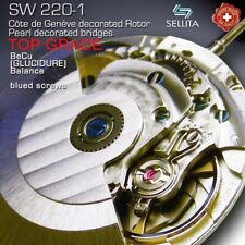 MOVEMENT AUTOMATIC SELLITA SW220-1, TOP GRADE BLUE SCREWS - COMPATIBLE ETA 2836