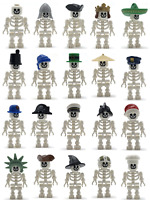 LEGO NEW WHITE SKELETON MINIFIGURES YOU PICK CASTLE PIRATE MORE DRESS YOUR FIGS