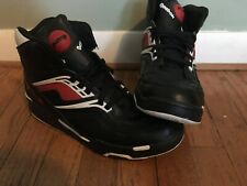 Reebok Pump Twilight Zone Black/Red Dee Brown Size 10 Very Good Condition