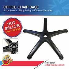 Office Chair Base, Nylon Base Gas Lift Chairs, 5 Star Heavy Duty, AFRDI - 600mm