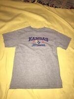 KU KANSAS Jayhawks Gray Youth Size XL 16-18 T-Shirt