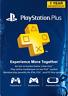PlayStation Plus Abonnement 12 Mois - 1 YEAR  1 année    Code  PSN PS4 PS3 [US]