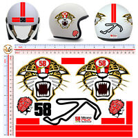 Misano circuit simoncelli adesivi casco stickers helmet tuning motorcycle 13 pz.