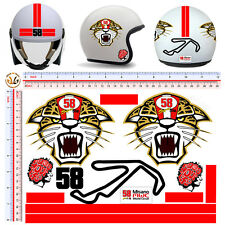 Adesivi casco misano circuit simoncelli stickers helmet tuning motorcycle 13 pz.