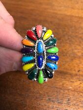 Cluster Ring Size 4 Sexy #A Native American Womens Multi StoneTurquoise Navajo