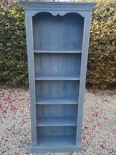 HAND PAINTED LIGHTLY DISTRESSED 6FT SLIM BOOKCASE IN GRAPHITE ANNIE SLOAN
