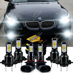Fit For BMW 525i 530i 2004-2006 Combo LED Headlight Fog Light Bulbs Kit 6000K