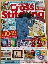 Issue 182 The World of Cross Stitching Magazine Christmas Festive Ideas  BR587