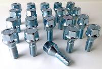 Car wheel bolts nuts lugs M12 x 1.5 - M12x1.5, 19mm Hex, taper seat x 20