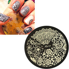 Stampo Flowers Leaves stampino decorazione stencil decori unghie unghia nail art