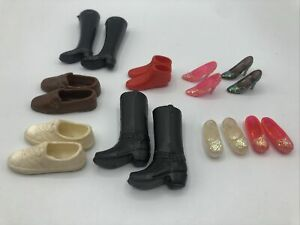 Vintage Barbie & Ken Doll Accessories SHOES BOOTS HEELS JAPAN HONG KONG RUBBER