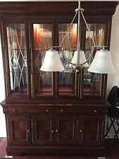 8 Seater Dining Room Set with Buffet and Hutch - Excellent Condition.