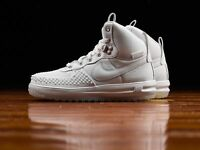 new NIKE LUNAR FORCE 1 DUCKBOOT shoes sz 5 white boys girls youth sneakers 37.5