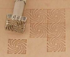 Craftool Leather/Clay Embossing Stamp -K135 Spiral Wave Background (66135-00)