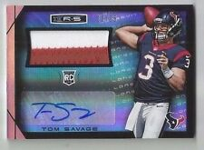 Tom Savage 2014 R&S Longevity 2 CLR JSY RC Auto #'d to JSY Number 3/25, Texans