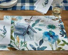 Sketchbook Print Placemat Spring Summer Birdhouse Flowers Nature Garden Kitchen