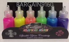 Bazic Neon Color GLITTER GLUE Sparkle Your Creativity Net Wt. 6x20ml(120ml)