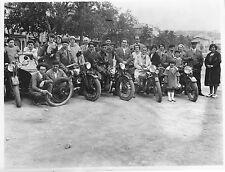 Motos Motorrad Motor cycles. Group. 1930's? Vintage photo. M131