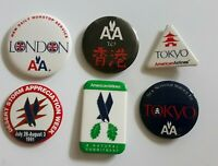 Lot of six American Airlines pin. Old AA logo. Price cut!
