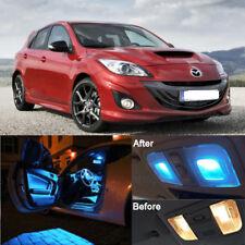 Ice Blue LED Bulbs Lamp Interior Kit + License Light LED For Mazda 3 2010-2013