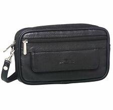 Pierre Cardin Mens Genuine Italian Leather Handy Travel Black Bag PC10165